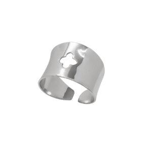 Ασημένιο δαχτυλίδι με σταυρό