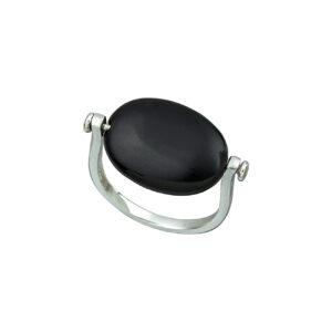 Ασημένιο δαχτυλίδι black onyx