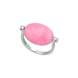 Ασημένιο δαχτυλίδι με ορυκτή πέτρα