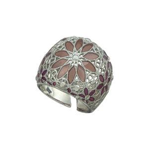 Ασημένιο δαχτυλίδι με σμάλτο