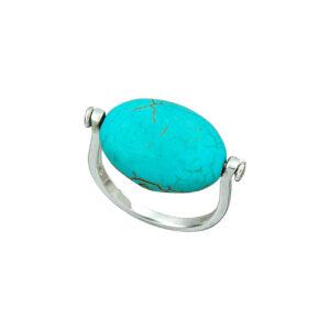 Ασημένιο δαχτυλίδι με τυρκουάζ