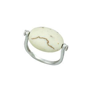 Ασημένιο δαχτυλίδι με hollorize