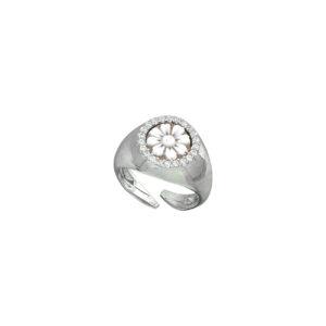 Ασημένιο δαχτυλίδι με καμέο και ζιργκόν
