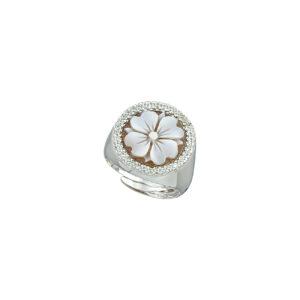 Ασημένιο δαχτυλίδι με ζιργκόν και καμέο