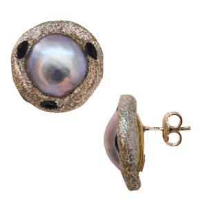 Μαργαριταρένια σκουλαρίκια με ζιργκόν