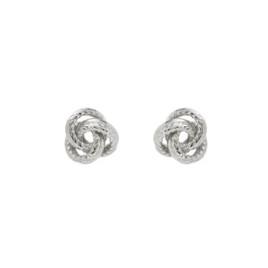 Ασημένια σκουλαρίκια σε σχήμα άνθους