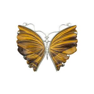 Καρφίτσα Πεταλούδα από Tiger Eye