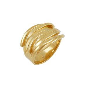 Δαχτυλίδι ασημένιο κίτρινο επίχρυσο