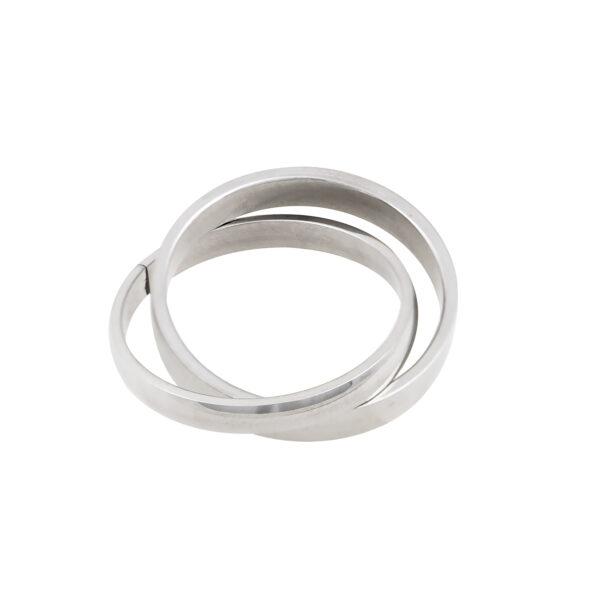 Δαχτυλίδι ατσάλινο. Σύμπλεγμα δύο βερών