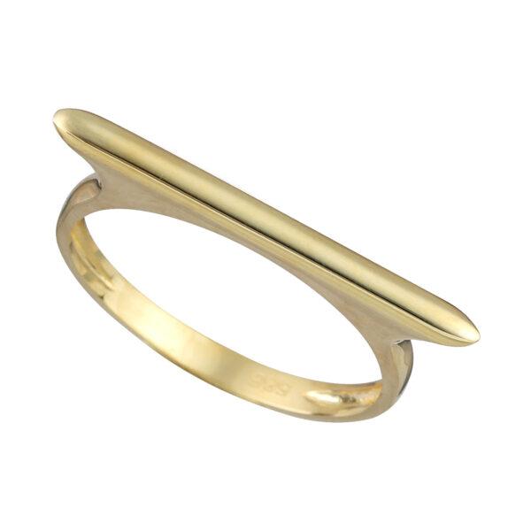Χρυσό δαχτυλίδι Λεπτή Μπάρα