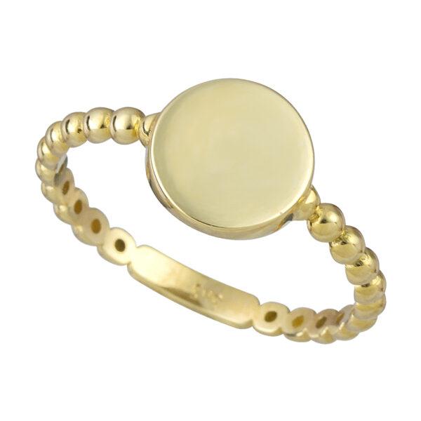 Χρυσό δαχτυλίδι Κύκλος μπίλιες