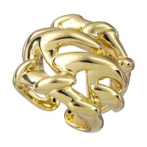 Χρυσό δαχτυλίδι Φαρδύ Twist
