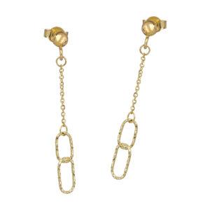 Χρυσά σκουλαρίκια Οβάλ Κρίκοι