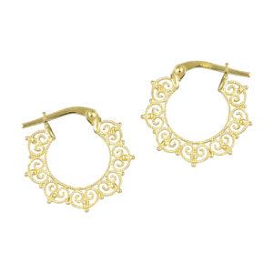 Χρυσά σκουλαρίκια Κρίκοι Φιλιγκράν