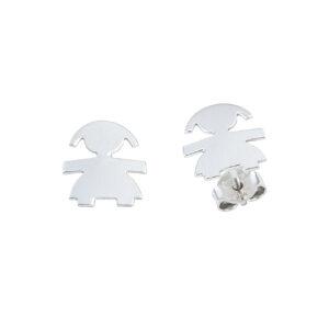 Ασημένια σκουλαρίκια κοριτσάκι