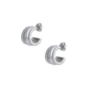 Ζεύγος ασημένια σκουλαρίκια κρίκοι