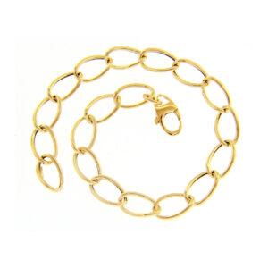 Κλασικό χρυσό βραχιόλι 14Κ με οβάλ κρίκους. Ένα κομψό βραχιόλι ιδανικό να φορεθεί όλες τις ώρες. Φάρδος 0.7 εκ