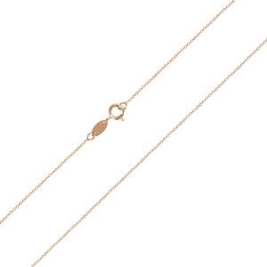 Ροζ επίχρυση αλυσίδα λαιμού Forzatina (διαμαντέ) 14 καρατίων. Ιδανική αλυσίδα για λεπτεπίλεπτους σταυρούς και μενταγιόν.