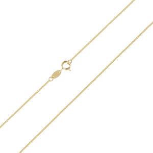 Χρυσή αλυσίδα λαιμού Gourmet (κουρμέτ) 14 καρατίων. Μια οικονομική επιλογή για σταυρούς και μενταγιόν.