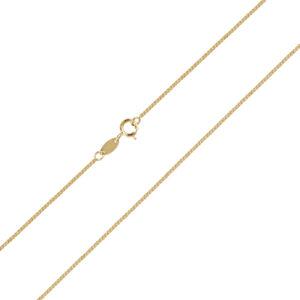 Χρυσή αλυσίδα λαιμού σπίγγα τετράγωνη 14 καρατίων. Μια ιδανική επιλογή για σταυρούς και μενταγιόν.