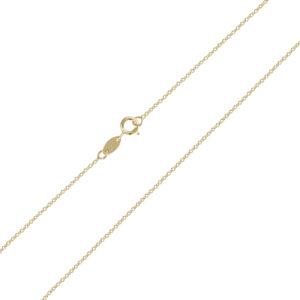 Χρυσή αλυσίδα λαιμού Forzatina (διαμαντέ) 14 καρατίων. Μια οικονομική επιλογή για σταυρούς και μενταγιόν.