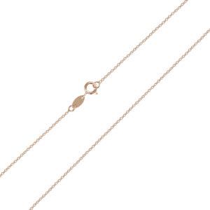 Ροζ επίχρυση αλυσίδα λαιμού Forzatina (διαμαντέ) 14 καρατίων. Μια οικονομική επιλογή για σταυρούς και μενταγιόν.