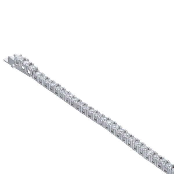 Ασημένιο βραχιόλι τύπου ριβιέρας (Tennis bracelet) με τετράδων καστόνια και ζιργκόν. Ένα κομψό και κλασικό βραχιόλι που θα ομορφύνει τις εμφανίσεις σας.